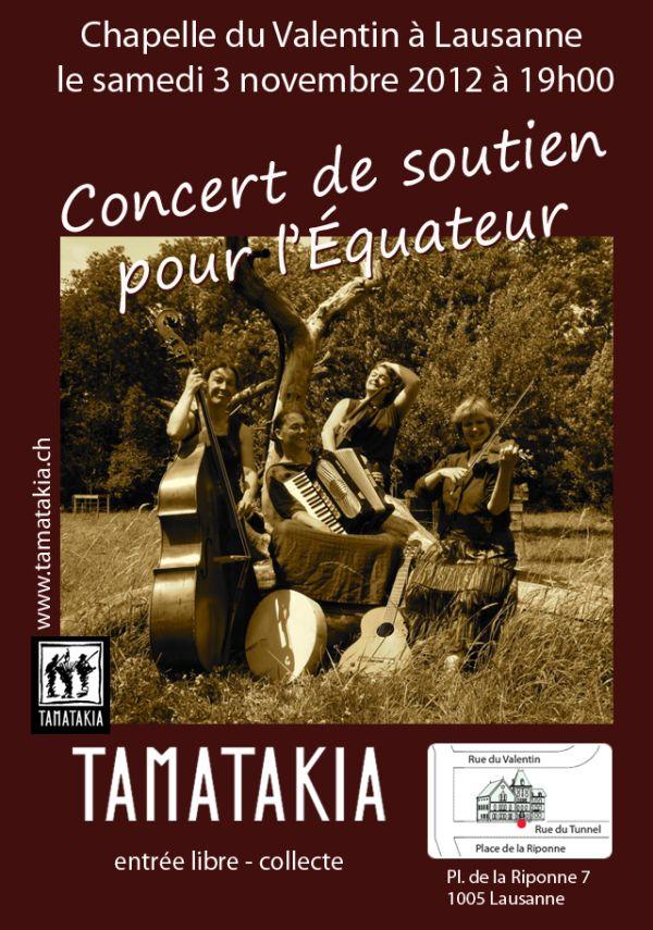 affiche concert tamatakia le 3 nov 2012