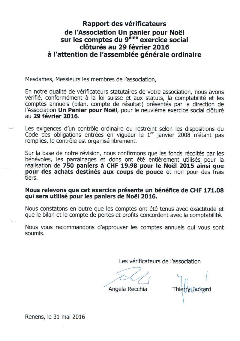 révision des comptes.2015-16